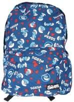 Loungefly Backpack - The Smurfs - I Heart Nerds New School Bag Girls sfbk0002
