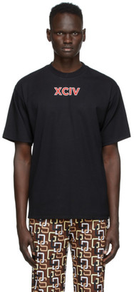 GCDS Black College T-Shirt
