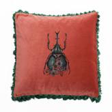 Bivain Scarab Velvet Cushion
