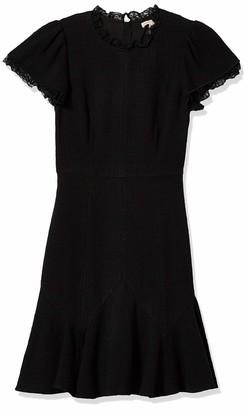 Rebecca Taylor Women's Short Sleeve Tweed Lace Dress