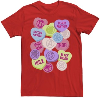 Icons Licensed Character Men's Marvel Candy Heart Hero Short Sleeve Tee