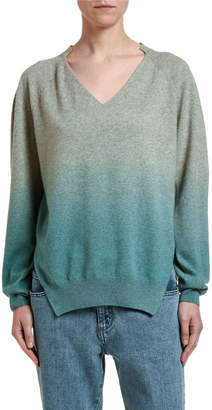 Stella McCartney Dip-Dyed Cashmere-Wool Sweater