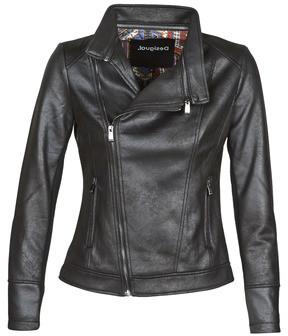 Desigual SVEN women's Leather jacket in Black