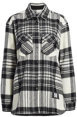we11done Plaid Flannel Wool Shirt