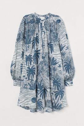 H&M Wide-cut Cotton-blend Tunic