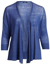 Nic + Zoe, Plus Size Plus 4-Way Linen-Blend Cardigan