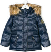 Diesel faux fur lined puffer jacket