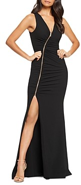Dress the Population Cher Zip-Front Gown