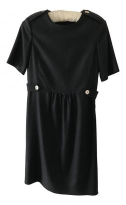 Burberry Black Wool Dresses