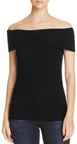 Three Dots Foldover Off-the-Shoulder Top
