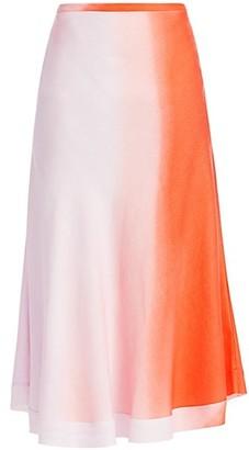 Maggie Marilyn Feeling Fruity Ombre A-Line Midi Skirt
