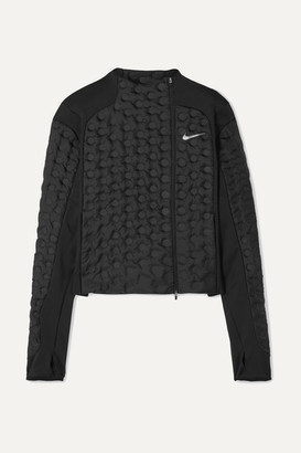 Nike Aeroloft Paneled Stretch-jersey And Padded Shell Down Jacket - Black