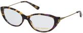 Tory Burch Gold Tortoise Cat-Eye Eyeglasses