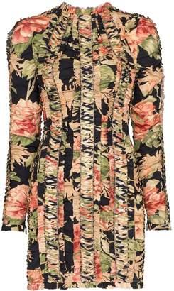 Zimmermann peony-print lace-up mini dress