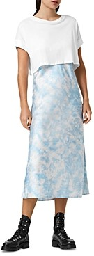 AllSaints Imo Tie Dyed Two In One Dress