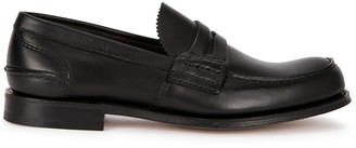 Church's Pembrey black leather penny loafers