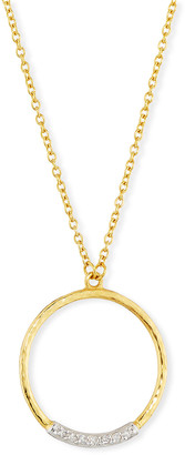 Gurhan Delicate Geo Diamond Pave Pendant Necklace