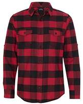 Burnside Yarn-Dyed Long Sleeve Flannel Shirt.B8210 Red / Black Buffalo