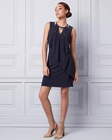 Le Château Knit Scoop Neck Trapeze Dress