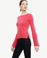 Ann Taylor Home Sweaters Cashmere Fluted Sleeve Sweater Cashmere Fluted Sleeve Sweater