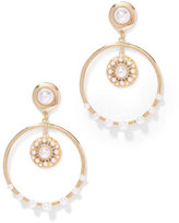 New York & Co. Eva Mendes Collection - Faux-Pearl Hoop Earring