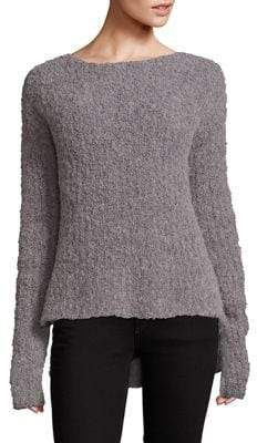 ATM Anthony Thomas Melillo Textured Hi-Lo Sweater