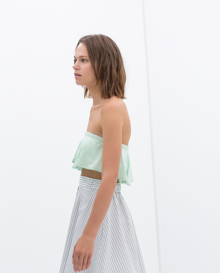 Zara Frilly Tube Top