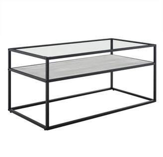 Mid-Century MODERN Saracina Home Modern Reversible Shelf Coffee Table