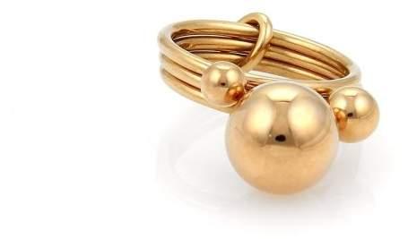 Hermes 18K Rose Gold Band Ring Size 5.25