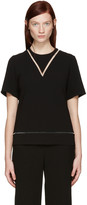 Alexander Wang Black Boxy Fishline Top