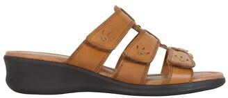 Wide Steps Pamela Cognac Glove Sandal