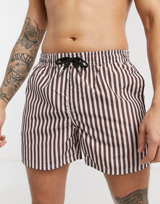 Another Influence vertical stripe swim shorts