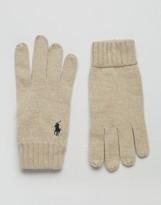 Polo Ralph Lauren Touch Gloves In Merino Wool