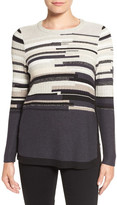 Nic+Zoe 'Tonal Tides' Stripe Side Zip Top