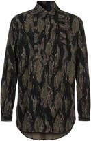 Yohji Yamamoto printed fitted shirt