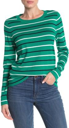 J.Crew Multicolor Stripe Print Pullover Sweater