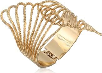"""GUESS Basic"""" Gold Clam Cuff Bracelet"""