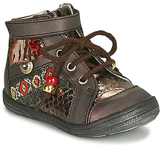 Catimini CANICHON girls's Shoes (High-top Trainers) in Brown