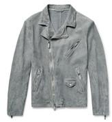 Giorgio Armani - Slim-fit Washed-suede Biker Jacket