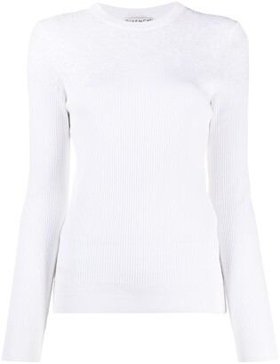Givenchy Lace-Detail Ribbed Jumper