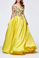 Tarik Ediz Taffeta Marina Gown