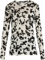 Proenza Schouler Abstract floral-print long-sleeved cotton T-shirt
