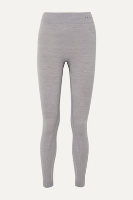FALKE ERGONOMIC SPORT SYSTEM Melange Wool-blend Leggings - Light gray
