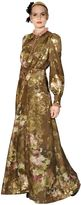 Antonio Marras Floral Silk Georgette & Fil Coupe Dress