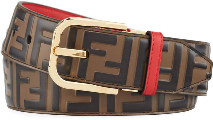 b20ff808b7 Men's FF Logo Leather Belt