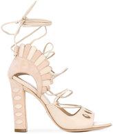 Paula Cademartori Lotus sandals - women - Goat Skin/Leather/Calf Suede - 36