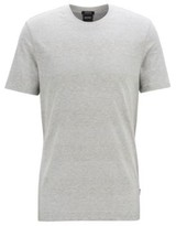 BOSS Crew-neck T-shirt in cotton and linen with stripes