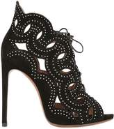 Alaia 115mm Studded Suede Lace Up Sandals