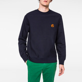 Paul Smith Men's Navy Flocked PS Logo Sweatshirt