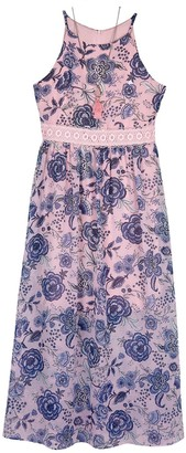 Amy Byer Girls 7-16 & Plus Size IZ Floral Halter Maxi Dress